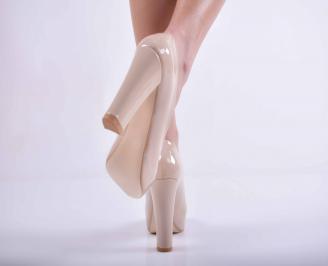 Дамски елегантни обувки бeжови EOBUVKIBG