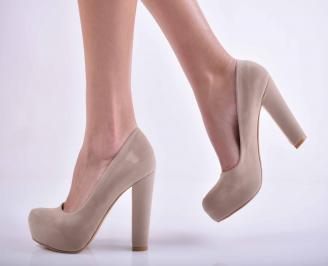 Дамски елегантни обувки бежови EOBUVKIBG