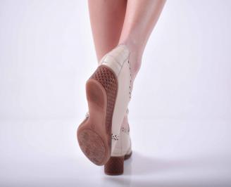 Дамски ежедневни обувки естествена кожа бежови EOBUVKIBG