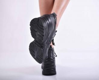 Дамски ежедневни обувки естествена кожа черни EOBUVKIBG 3