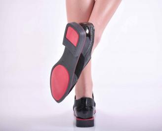Дамски ежедневни обувки естествена кожа черни EOBUVKIBG
