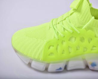 Мъжки маратонки текситил зелен  EOBUVKIBG