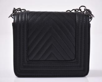 Дамска компактна чанта черна EOBUVKIBG