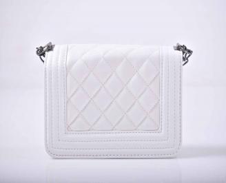 Дамска компактна чанта бяла EOBUVKIBG