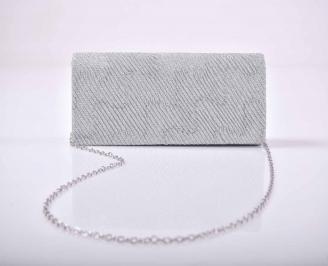 Елегантна абитуриентска чанта брокат сребриста  EOBUVKIBG