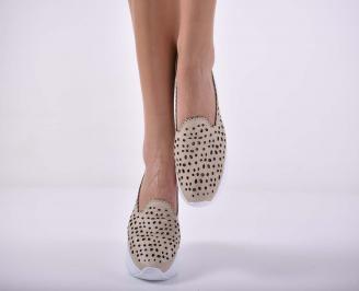 Дамски обувки  произведени България естествена кожа бежови EOBUVKIBG