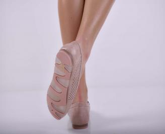 Дамски ежедневни обувки пудра EOBUVKIBG