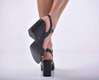 Дамски елегантни сандали черни EOBUVKIBG
