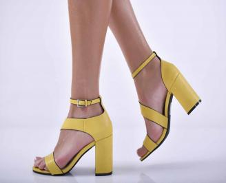 Дамски елегантни сандали жълти EOBUVKIBG