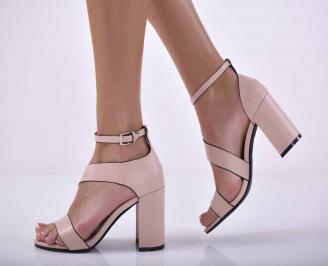 Дамски елегантни сандали пудра EOBUVKIBG