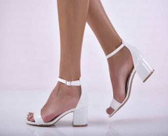 Дамски елегантни сандали бели EOBUVKIBG