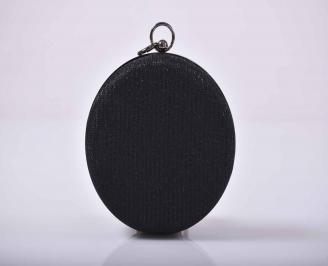 Елегантна абитуриентска чанта  ситен брокат черна EOBUVKIBG