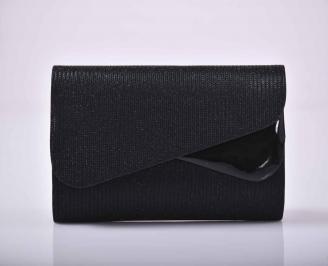 Елегантна абитуриентска чанта брокат черна EOBUVKIBG