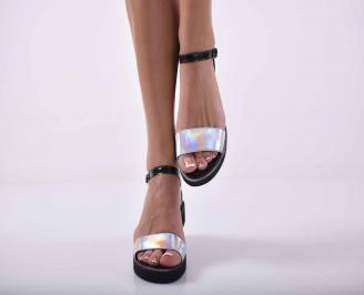 Дамски сандали естествена кожа черни EOBUVKIBG