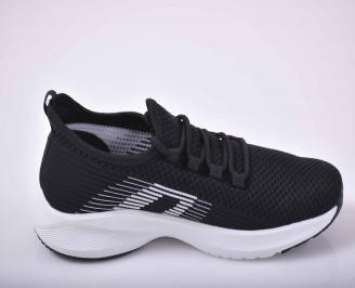 Мъжки маратонки текстил черни  EOBUVKIBG