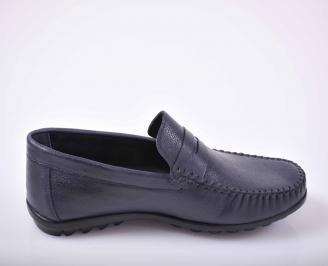 Мъжки обувки-Гигант естествена кожа сини