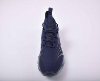 Мъжки маратонки текстил сини EOBUVKIBG