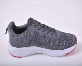 Мъжки маратонки текстил сиви EOBUVKIBG