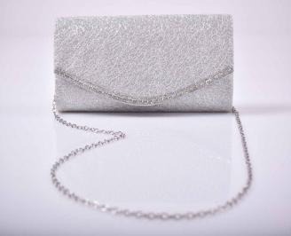 Елегантна абитуриентска чанта сребрист  EOBUVKIBG