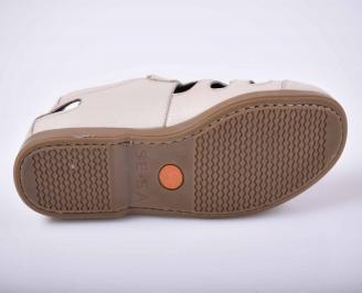 Мъжки сандали-Гигант естествена кожа бежови