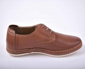 Мъжки спортно елегантни обувки кафяви EOBUVKIBG 3