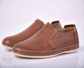 Мъжки спортно елегантни обувки кафяви EOBUVKIBG