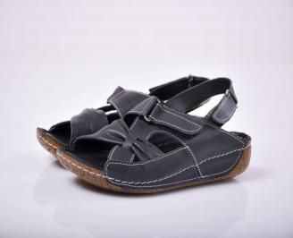 Дамски сандали Гигант естествена кожа черни EOBUVKIBG
