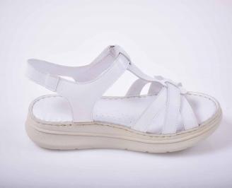 Дамски сандали гигант естествена кожа бели EOBUVKIBG 3