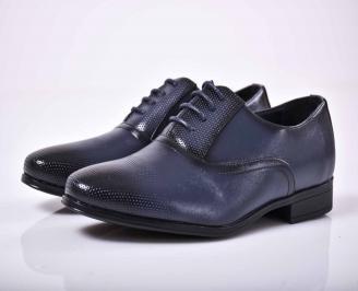 Мъжки официални обувки  сини EOBUVKIBG