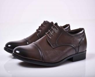 Мъжки официални обувки  кафяви EOBUVKIBG