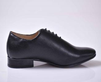 Мъжки спортно елегантни обувки черни EOBUVKIBG