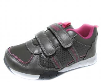 Детски обувки Bulldozer сиви еко кожа