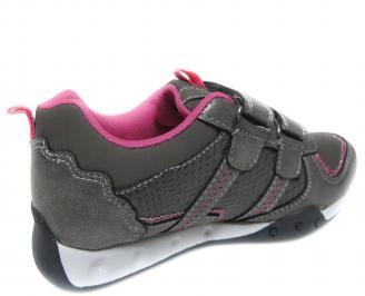 Детски обувки Bulldozer сиви еко кожа 3