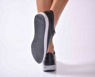 Дамски обувки естествена кожа черни EOBUVKIBG