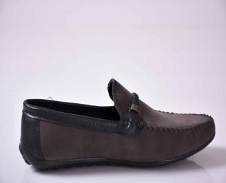Мъжки спортно елегантни обувки сиви EOBUVKIBG