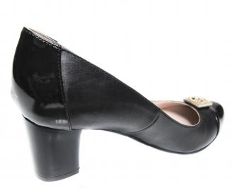 Дамски елегантни обувки естествена кожа черни 3