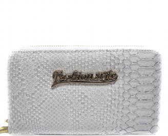 Дамско портмоне еко кожа бяло