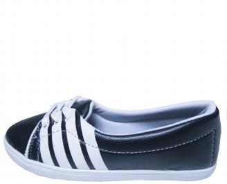 Дамски равни обувки еко кожа тъмно сини