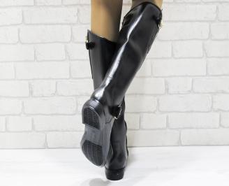 Дамски ботуши еко кожа черни