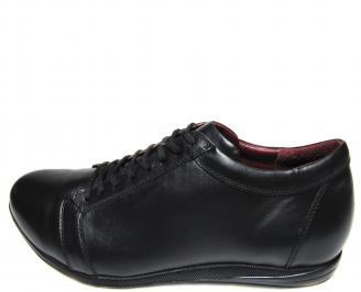 Мъжки обувки-Гигант естествена кожа черни