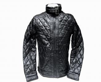 Мъжко  яке- еко кожа черно