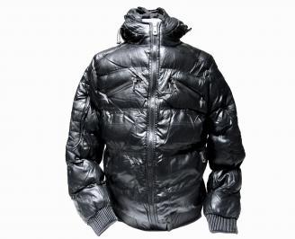 Мъжко яке еко кожа черно