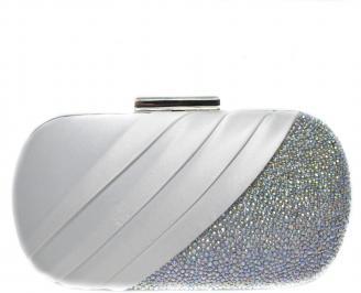 Абитуриентска чанта  бял сатен