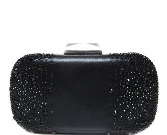 Абитуриентска чанта черна сатен