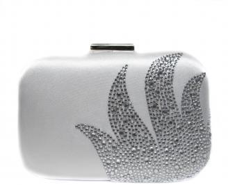 Абитуриентска чанта сребрист текстил