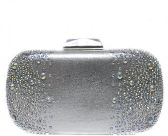Абитуриентска чанта  сребрист сатен