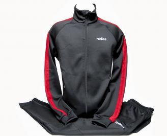 Мъжки спортен екип памук черен