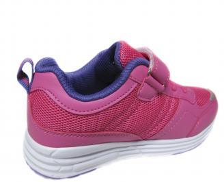 Детски маратонки Bulldozer еко кожа,текстил розово 3