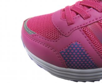 Детски маратонки Bulldozer еко кожа,текстил розово