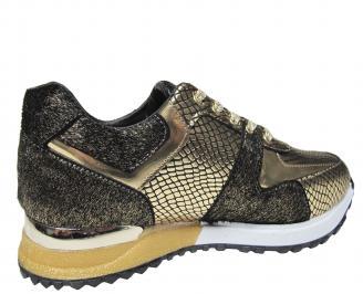 Дамски спортни обувки златисти 3
